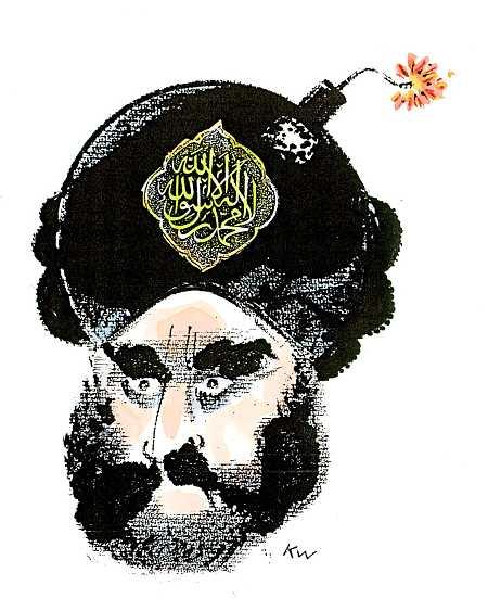 Muhammed farve. tegning : KW