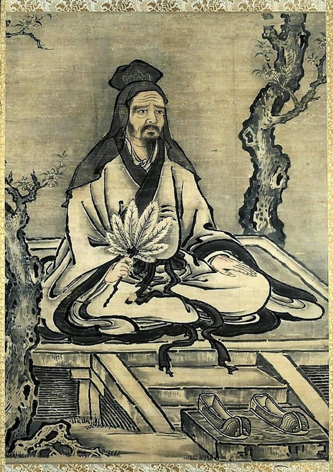 Kano-Tanyu-Confucius-and-His-Disciples-Yan-Hui-and-Zeng-Sen-at-the--Ap-painting-artwork-print