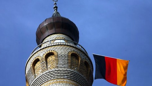 minaret and flag