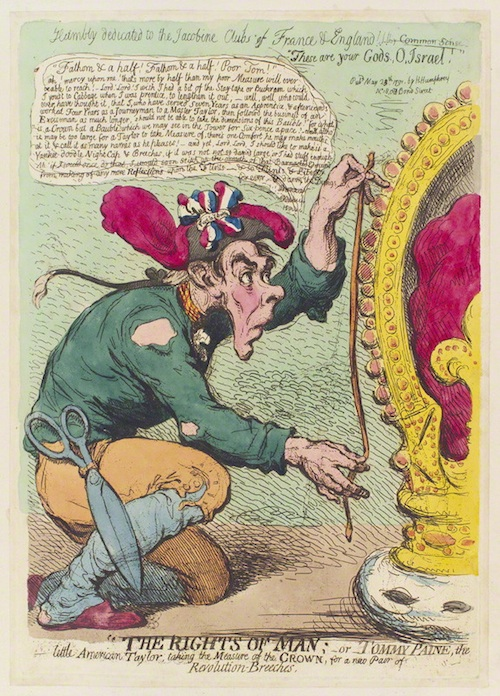 NPG D12420; Thomas Paine by James Gillray, published by  Hannah Humphrey