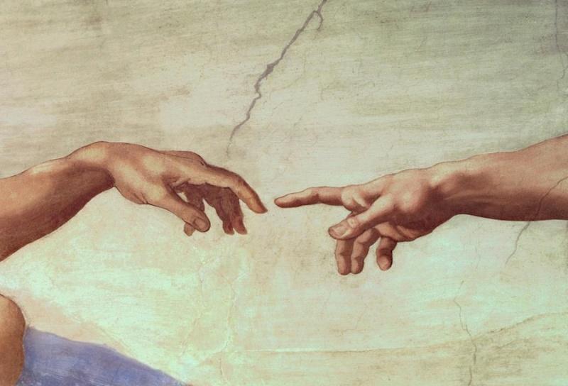 god and adam hands