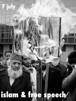Satanic Verses book burning. Bradford, UK. 14 January 1989.