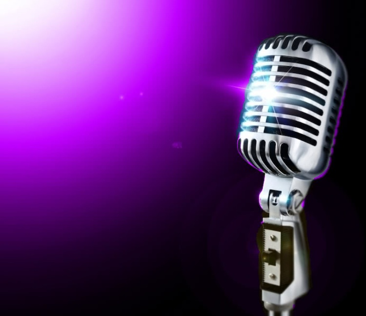 microphone purple