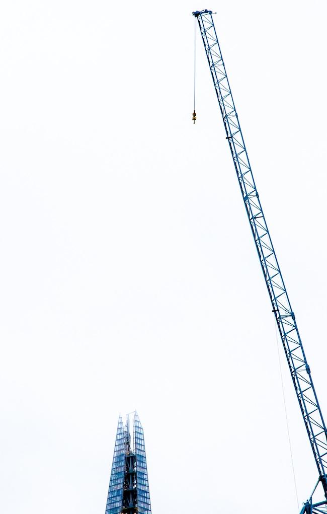 london shard crane