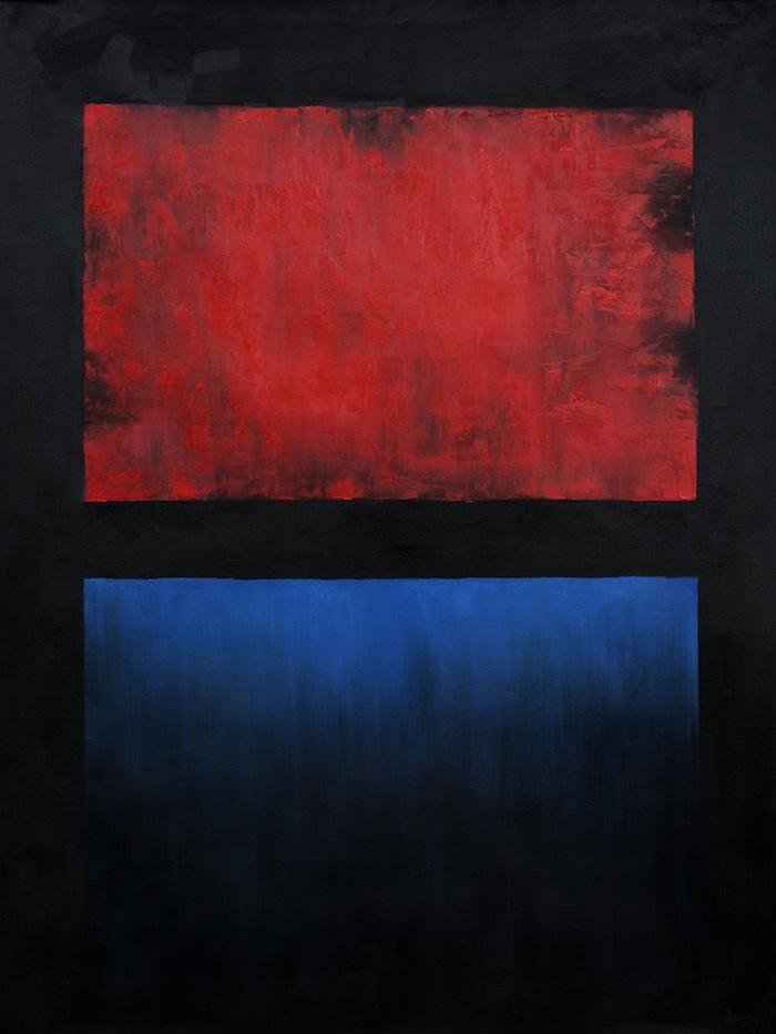 Rothko Red, Blue over Black