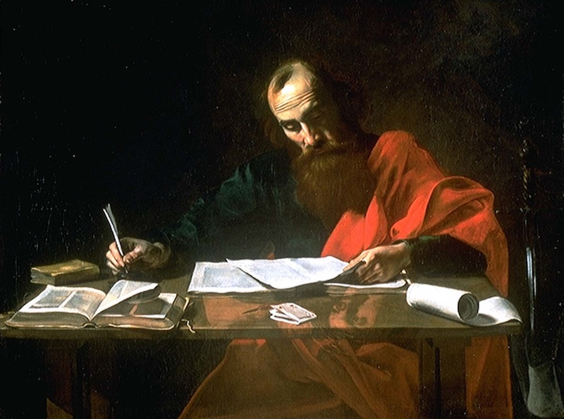 valentin paul writing his epistles