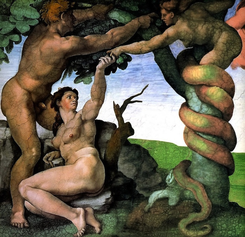 Michaelangelo Adam and Eve