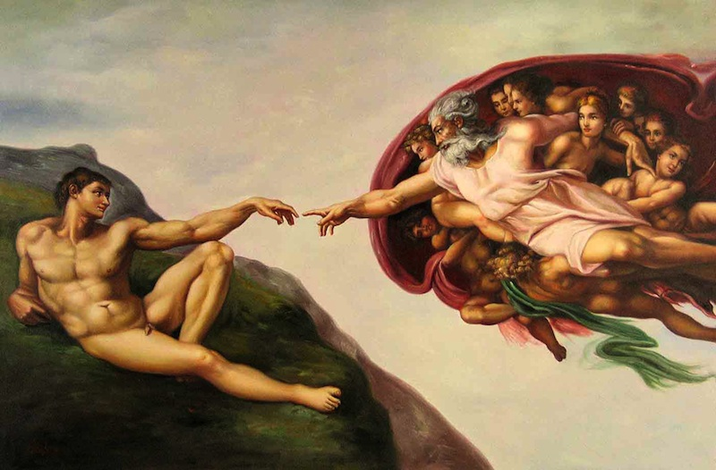michaelangelo the creation of adam