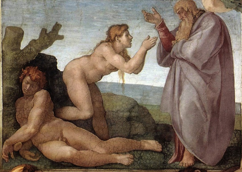 michaelangelo the creation of eve