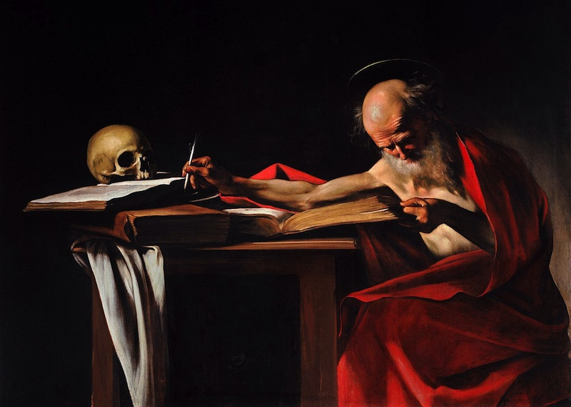 Caravaggio Saint Jerome Writing