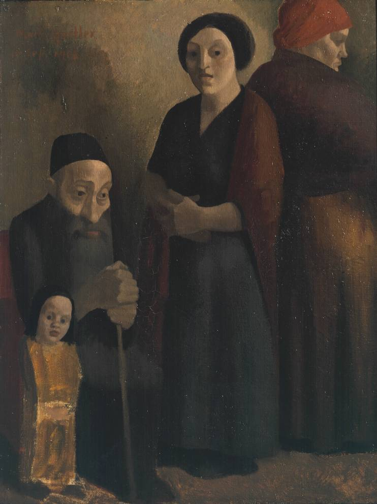 Jewish Family 1913 by Mark Gertler 1891-1939