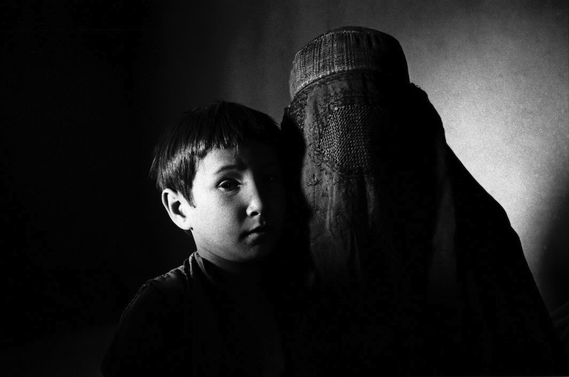 Dasht-e-Qala,Takhar Province: November 2000 Mother and son.