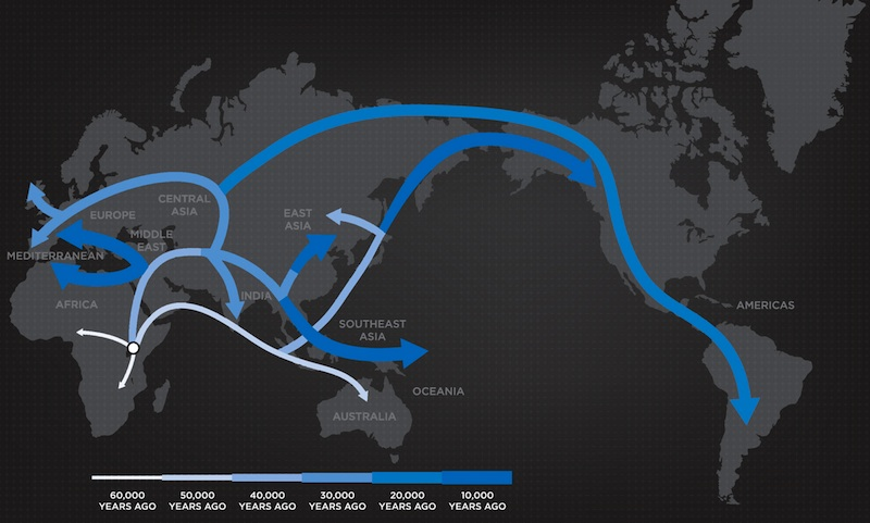 ancient human migration map