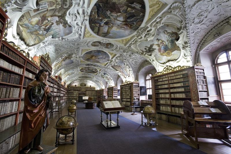 Strahov Theological Hall - Original Baroque Cabinets, Prague