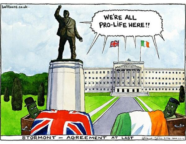 steve bell abortion northern ireland