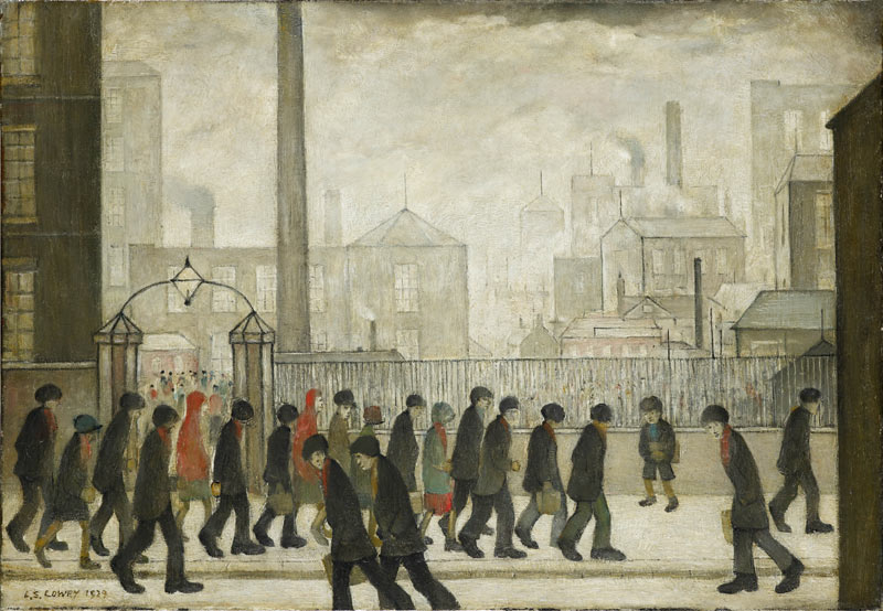 LS Lowry's Returning from Work, 1929. LS Lowry's Returning from Work, 1929. lowry returning