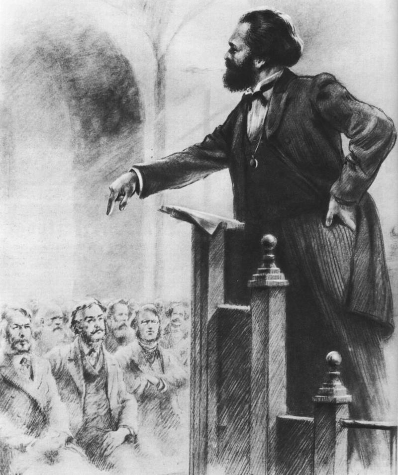 marx adressing first international