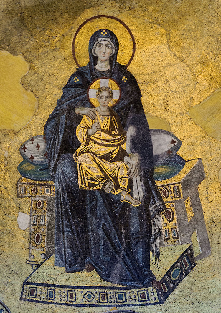 hagia sophia vrgin and child