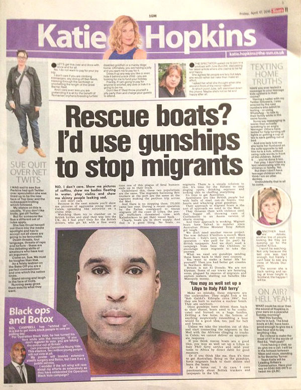 katie hopkins migrants