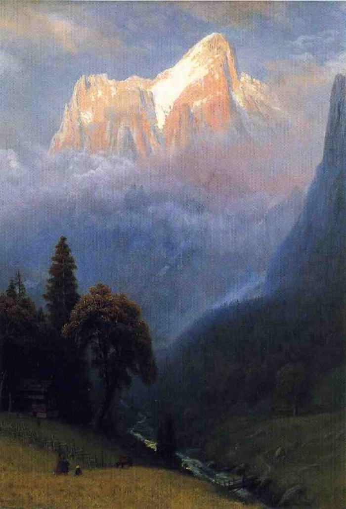 albert bierstadt snow capped mountain