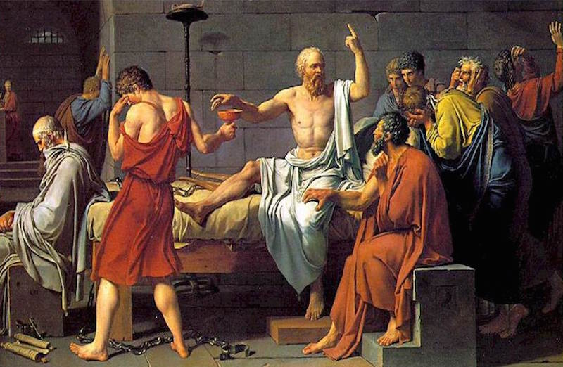 david death of socrates
