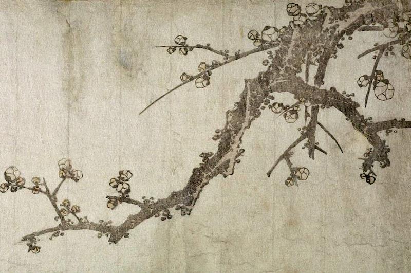 katsushika hokusai plum branch