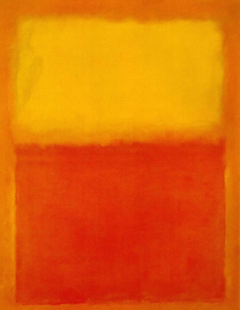 rothko orange and yellow