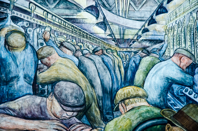 Detroit diego rivera and the worth of art pandaemonium for Diego rivera first mural