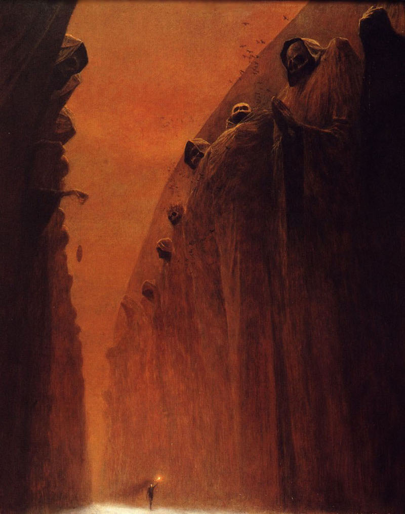 beksinski we are all in the hands of goliaths
