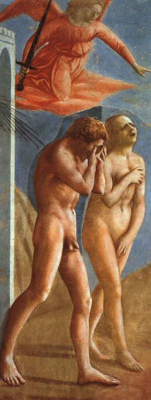 Masaccio-The Expulsion Of Adam And Eve From Eden Restored
