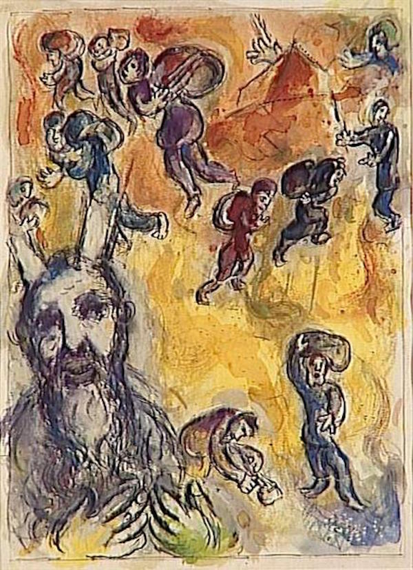 chagall exodus moses sees the sufferings of his people