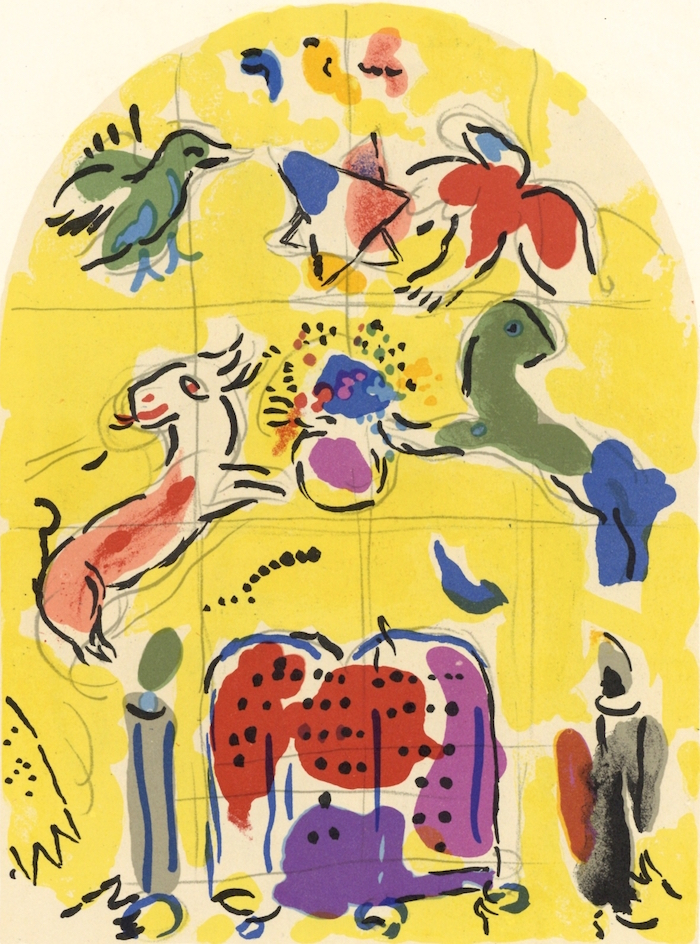 chagall levi tribe lithograph