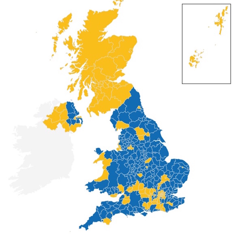 brexit result map bbc