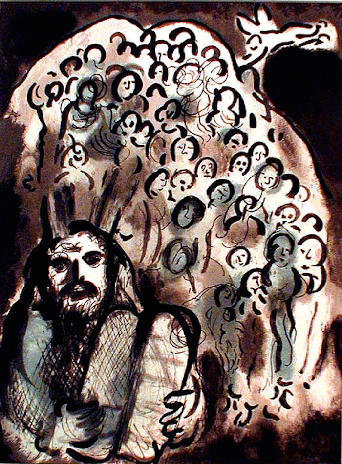 chagall exodus moses and his people