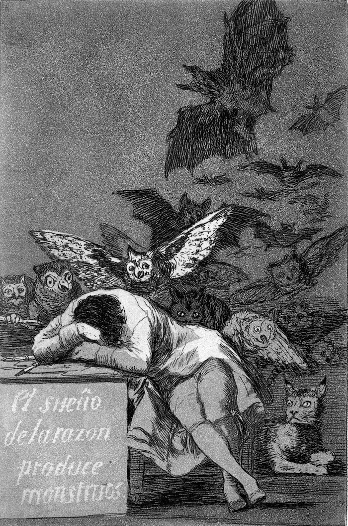 Goya The Sleep of Reason Produces Monsters