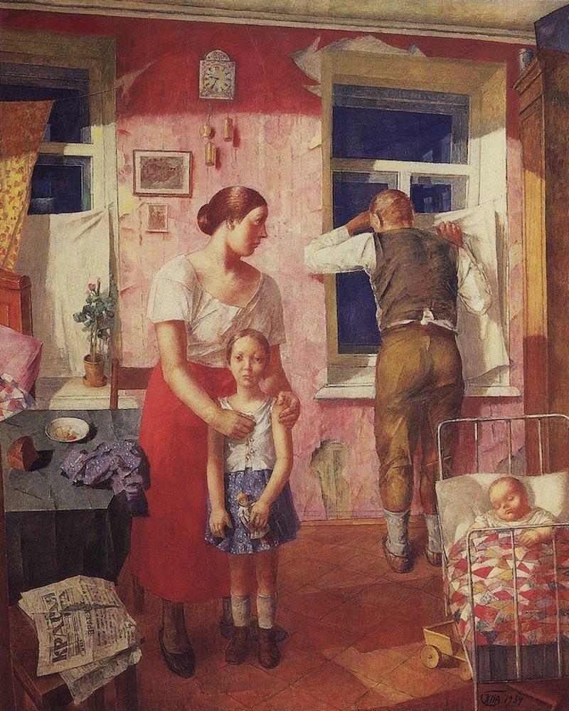 Kuzma Petrov-Vodkin Anxiety  1934