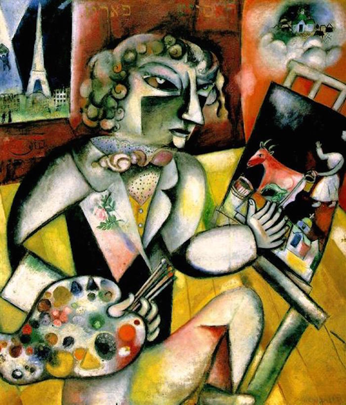 Marc Chagall Self Portrait With Seven Fingers 1913