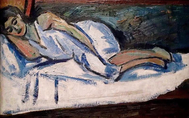 Mikhil Larionov Natalia Goncharova Sleeping 1908-10