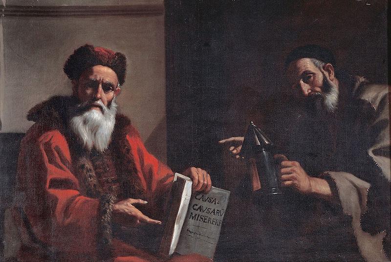 Mattia Preti Diogenes and Plato