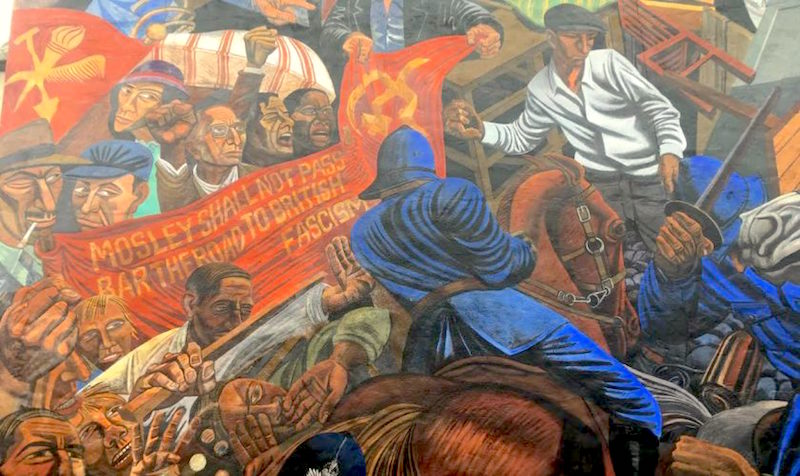 The battle of cable street pandaemonium for Cable street mural