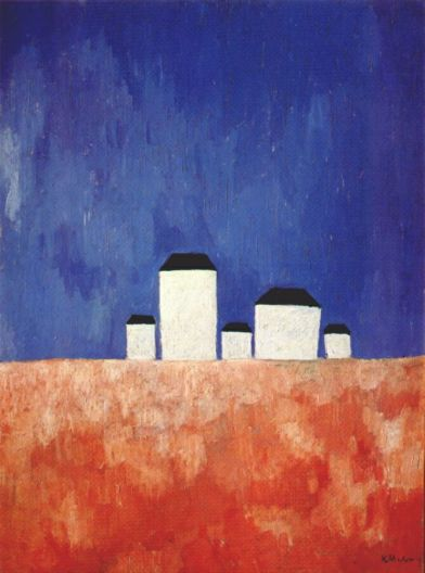 kazimir-malevich-landscape-with-five-houses