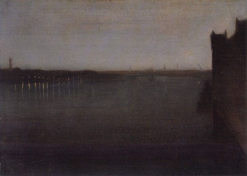 Whistler Nocturne in Gray and Gold, Westminster Bridge