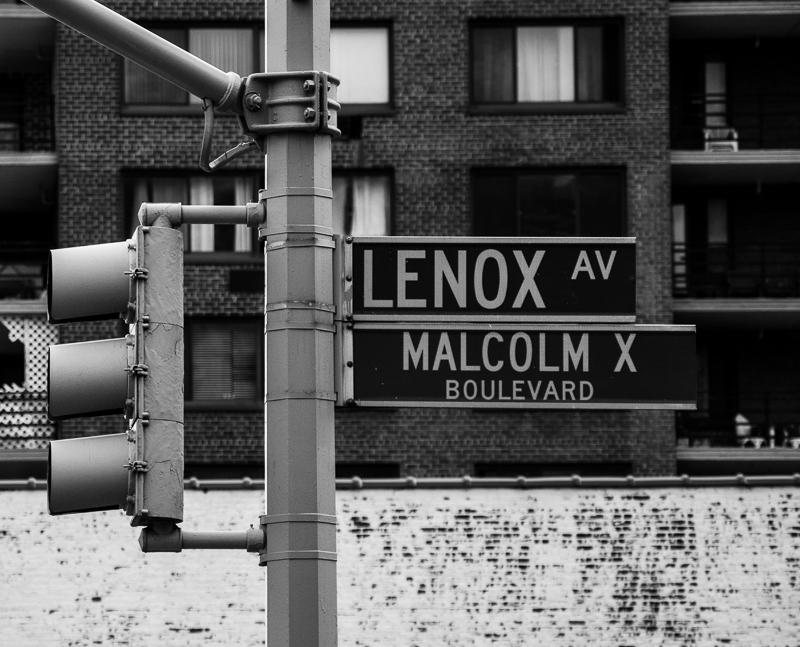 Malcolm X Boulevard sign