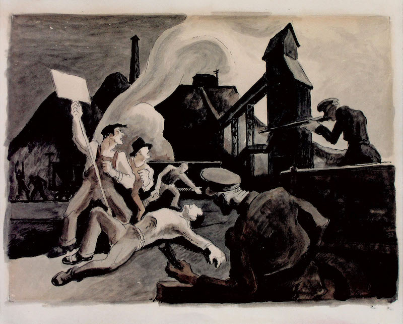 Thomas Hart Benton Mine Strike