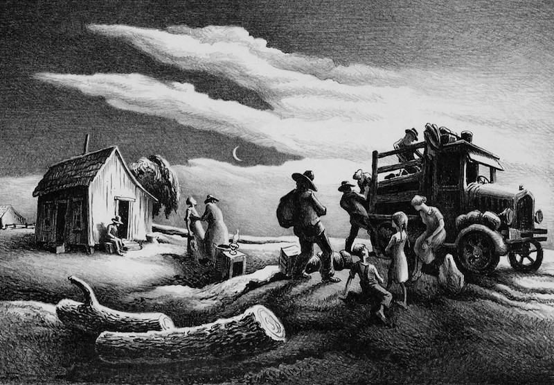 Thomas Hart Benton The Departure of the Joads