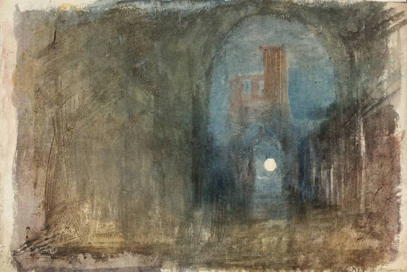Moonlight among Ruins circa 1820 by Joseph Mallord William Turner 1775-1851