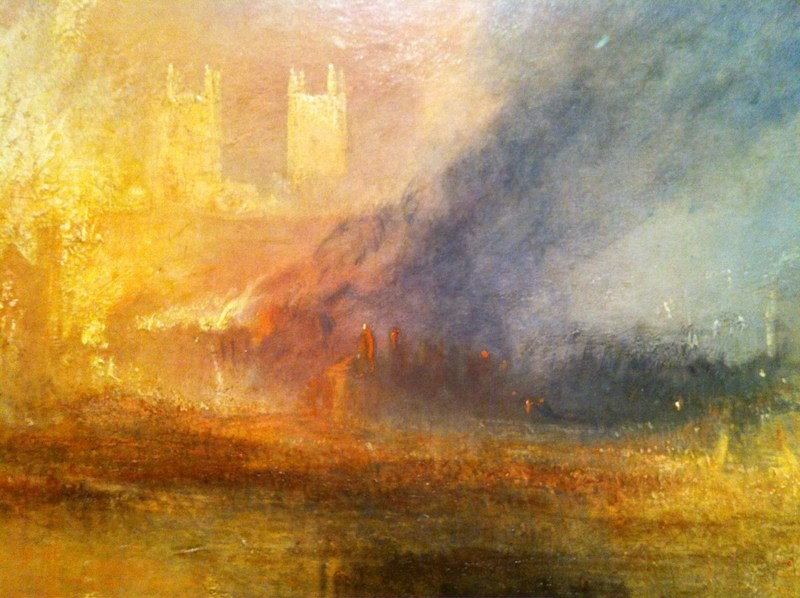 Turner Houses of Parliament burning Down