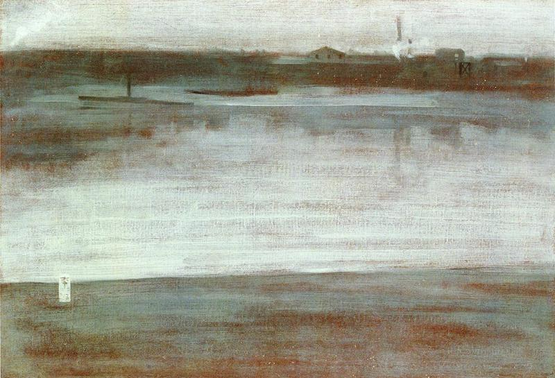 Whistler Symphony in grey early morning Thames