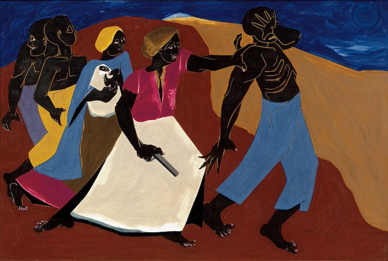 Jacob Lawrence Forward Out of Slavery