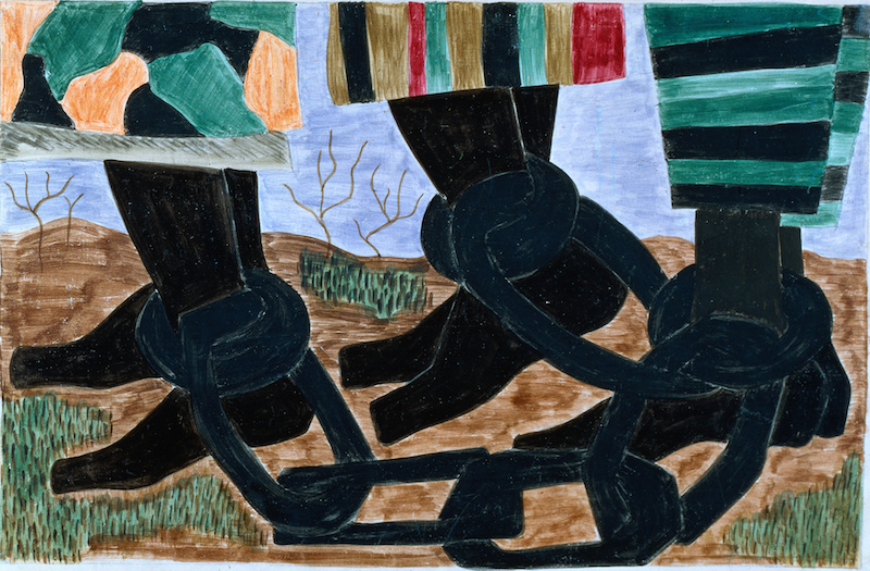 Jacob Lawrence Harriet Tubman Series No 9